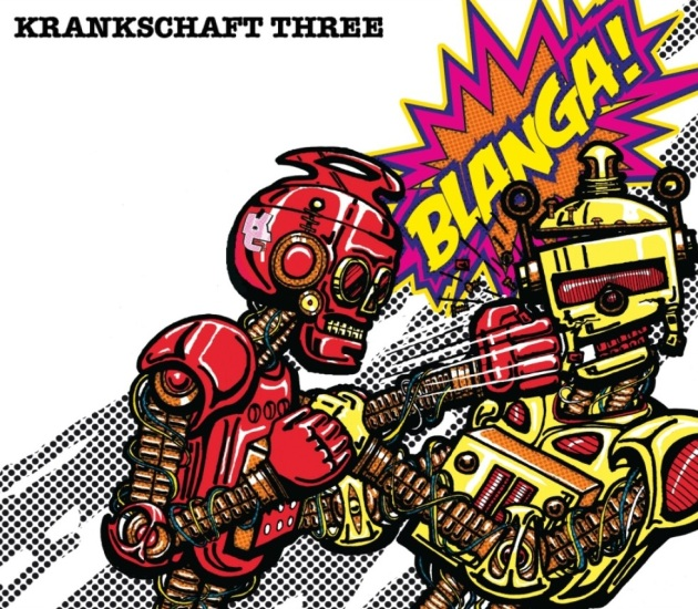 "Click on the battling BLANGA Bots to score your own copy of ""Krankschaft Three."""