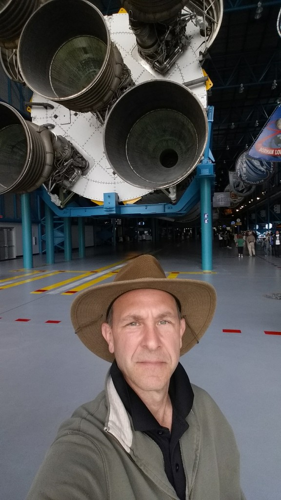 Me and the business end of a Saturn V rocket.